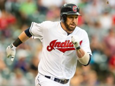 CLEVELAND, OH -  MAY 27: Jason Kipnis #22 of the Cleveland Indians hits a double to deep center during the third inning against the Texas Rangers at Progressive Field on May 27, 2015 in Cleveland, Ohio. (Photo by Jason Miller/Getty Images)  *** Local Caption *** Jason Kipnis