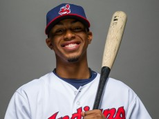 GOODYEAR, AZ - FEBRUARY 24: Francisco Lindor #67 of the Cleveland Indians poses for a portrait at Goodyear Ballpark on February 24, 2014 in Goodyear, Arizona. (Photo by Rob Tringali/Getty Images)