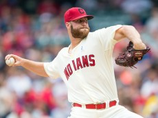 CLEVELAND, OH -  JUNE 21: Starting pitcher Cody Anderson #56 of the Cleveland Indians pitches during the second inning against the Tampa Bay Rays at Progressive Field on June 21, 2015 in Cleveland, Ohio.  (Photo by Jason Miller/Getty Images)  *** Local Caption *** Cody Anderson