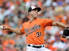 BALTIMORE, MD - JUNE 28:  Ubaldo Jimenez #31 of the Baltimore Orioles pitches in the second inning against the Cleveland Indians at Oriole Park at Camden Yards on June 28, 2015 in Baltimore, Maryland.  (Photo by Greg Fiume/Getty Images)