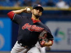 ST. PETERSBURG, FL - JUNE 30:  Danny Salazar #31 of the Cleveland Indians pitches in the first inning of a game against the Tampa Bay Rays on June 30, 2015 at Tropicana Field in St. Petersburg, Florida.  (Photo by Brian Blanco/Getty Images)