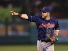 ANAHEIM, CA - AUGUST 19:  Jason Kipnis #22 of the Cleveland Indians gestures against the Los Angeles Angels of Anaheim at Angel Stadium of Anaheim on August 19, 2013 in Anaheim, California.  (Photo by Jeff Gross/Getty Images)