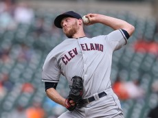DETROIT, MI - JUNE 14: Nick Hagadone #50 of the Cleveland Indians pitches in the seventh inning of the game against the Detroit Tigers on June 14, 2015 at Comerica Park in Detroit, Michigan. (Photo by Leon Halip/Getty Images)