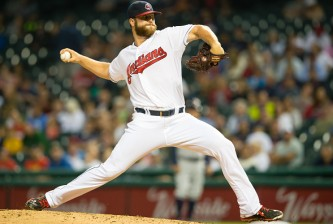 CLEVELAND, OH -  JULY 9: Starting pitcher Cody Anderson #56 of the Cleveland Indians pitches during the seventh inning against the Houston Astros at Progressive Field on July 9, 2015 in Cleveland, Ohio.  (Photo by Jason Miller/Getty Images)  *** Local Caption *** Cody Anderson