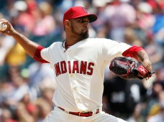 CLEVELAND, OH - JULY 26:  Danny Salazar #31 of the Cleveland Indians pitches against the Chicago White Sox during the second inning of their game on July 26, 2015 at Progressive Field in Cleveland, Ohio.   (Photo by David Maxwell/Getty Images)