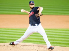 CLEVELAND, OH - AUGUST 26: Starting pitcher Cody Anderson #56 of the Cleveland Indians pitches during the first inning against the Milwaukee Brewers at Progressive Field on August 26, 2015 in Cleveland, Ohio. (Photo by Jason Miller/Getty Images)