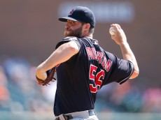 DETROIT, MI - SEPTEMBER 6: Cody Anderson #56 of the Cleveland Indians pitches during the first inning of the game against the Detroit Tigers on September 6, 2015 at Comerica Park in Detroit, Michigan. (Photo by Leon Halip/Getty Images)