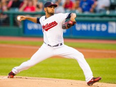 CLEVELAND, OH - SEPTEMBER 16: Starting pitcher Danny Salazar #31 of the Cleveland Indians pitches during the first inning against the Kansas City Royals at Progressive Field on September 16, 2015 in Cleveland, Ohio. (Photo by Jason Miller/Getty Images)