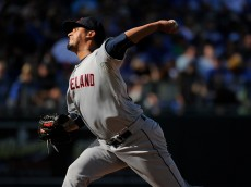 KANSAS CITY, MO - SEPTEMBER 27:  Giovanni Soto #65 of the Cleveland Indians throws in the eighth inning against the Kansas City Royals at Kauffman Stadium on September 27, 2015 in Kansas City, Missouri. (Photo by Ed Zurga/Getty Images)