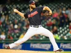 CLEVELAND, OH - SEPTEMBER 30: Starting pitcher Cody Anderson #56 of the Cleveland Indians pitches during the first inning against the Minnesota Twins at Progressive Field on September 30, 2015 in Cleveland, Ohio during game two of a doubleheader. (Photo by Jason Miller/Getty Images)  *** Local Caption *** Cody Anderson