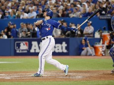 during game three of the American League Championship Series at Rogers Centre on October 19, 2015 in Toronto, Canada.