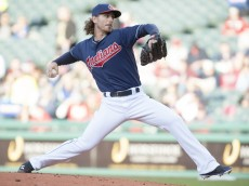 CLEVELAND, OH - MAY 6: Starter Josh Tomlin #43 of the Cleveland Indians pitches during the second inning against the Minnesota Twins at Progressive Field on May 6, 2014 in Cleveland, Ohio.   (Photo by Jason Miller/Getty Images)