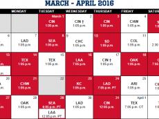 Spring Schedule