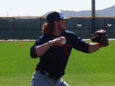 Frazier warms up during minor league Spring Training. - Joseph Coblitz, BurningRiverBaseball