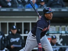 CHICAGO, IL - APRIL 08:  Jose Ramirez #11 of the Cleveland Indians bats against the Chicago White Sox during the home opener at U.S. Cellular Field on April 8, 2016 in Chicago, Illinois. The Indians defeated the White Sox 7-1.  (Photo by Jonathan Daniel/Getty Images)
