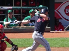 Kipnis swings during an MLB Spring game against the Reds at Goodyear Ballpark. Joseph Coblitz, BurningRiverBaseball