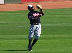 Davis makes a catch in left field during MLB Spring action. - Jennifer Coblitz, BurningRiverBaseball