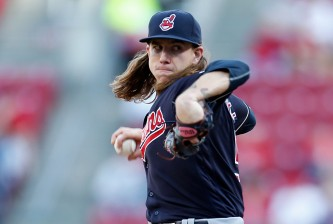 CINCINNATI, OH - MAY 18:  Mike Clevinger #52 of the Cleveland Indians throws a pitch during the first inning of the game against the Cincinnati Reds at Great American Ball Park on May 18, 2016 in Cincinnati, Ohio. (Photo by Kirk Irwin/Getty Images)