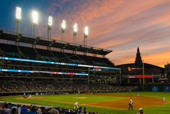 CLEVELAND, OH -  JUNE 2: A general stadium shot during the sixth inning of the game between the Kansas City Royals and the Cleveland Indians at Progressive Field on June 2, 2016 in Cleveland, Ohio. (Photo by Jason Miller/Getty Images)  *** Local Caption ***