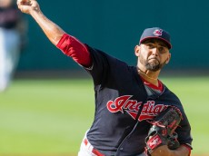 CLEVELAND, OH -  JUNE 18: Starting pitcher Danny Salazar #31 of the Cleveland Indians pitches during the first inning against the Chicago White Sox at Progressive Field on June 18, 2016 in Cleveland, Ohio. (Photo by Jason Miller/Getty Images)  *** Local Caption *** Danny Salazar