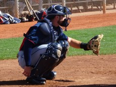 Haase works out pitchers during minor league Spring Training in Goodyear, Arizona 2016. - Joseph Coblitz, BurningRiverBaseball