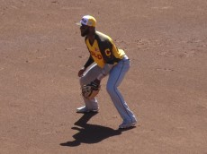 Diaz started at third base for the 2016 World team in the Futures Game. - Joseph Coblitz, BurningRiverBaseball