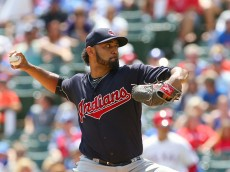 ARLINGTON, TX - AUGUST 28: Danny Salazar #31 of the Cleveland Indians throws in the first inning against the Texas Rangers at Globe Life Park in Arlington on August 28, 2016 in Arlington, Texas. (Photo by Rick Yeatts/Getty Images) *** Local Caption *** Danny Salazar