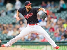 CLEVELAND, OH - AUGUST 31: Starting pitcher Corey Kluber #28 of the Cleveland Indians pitches during the first inning against the Minnesota Twins at Progressive Field on August 31, 2016 in Cleveland, Ohio. (Photo by Jason Miller/Getty Images)  *** Local Caption *** Corey Kluber