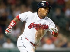 CLEVELAND, OH - AUGUST 29: Jose Ramirez #11 of the Cleveland Indians runs out a double during the fifth inning against the Minnesota Twins at Progressive Field on August 29, 2016 in Cleveland, Ohio. (Photo by Jason Miller/Getty Images)  *** Local Caption *** Jose Ramirez