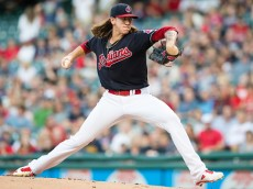 CLEVELAND, OH - SEPTEMBER 5: Starting pitcher Mike Clevinger #52 of the Cleveland Indians pitches during the first inning against the Houston Astros at Progressive Field on September 5, 2016 in Cleveland, Ohio. (Photo by Jason Miller/Getty Images)  *** Local Caption *** Mike Clevinger