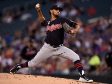 MINNEAPOLIS, MN - SEPTEMBER 09: Danny Salazar #31 of the Cleveland Indians delivers a pitch against the Minnesota Twins during the first inning of the game on September 9, 2016 at Target Field in Minneapolis, Minnesota. (Photo by Hannah Foslien/Getty Images)