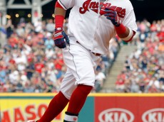 CLEVELAND, OH - SEPTEMBER 18:Carlos Santana #41 of the Cleveland Indians rounds the bases on a solo home run against the Detroit Tigers in the sixth inning at Progressive Field on September 18, 2016 in Cleveland, Ohio.  (Photo by David Maxwell/Getty Images) *** Local Caption *** Carlos Santana